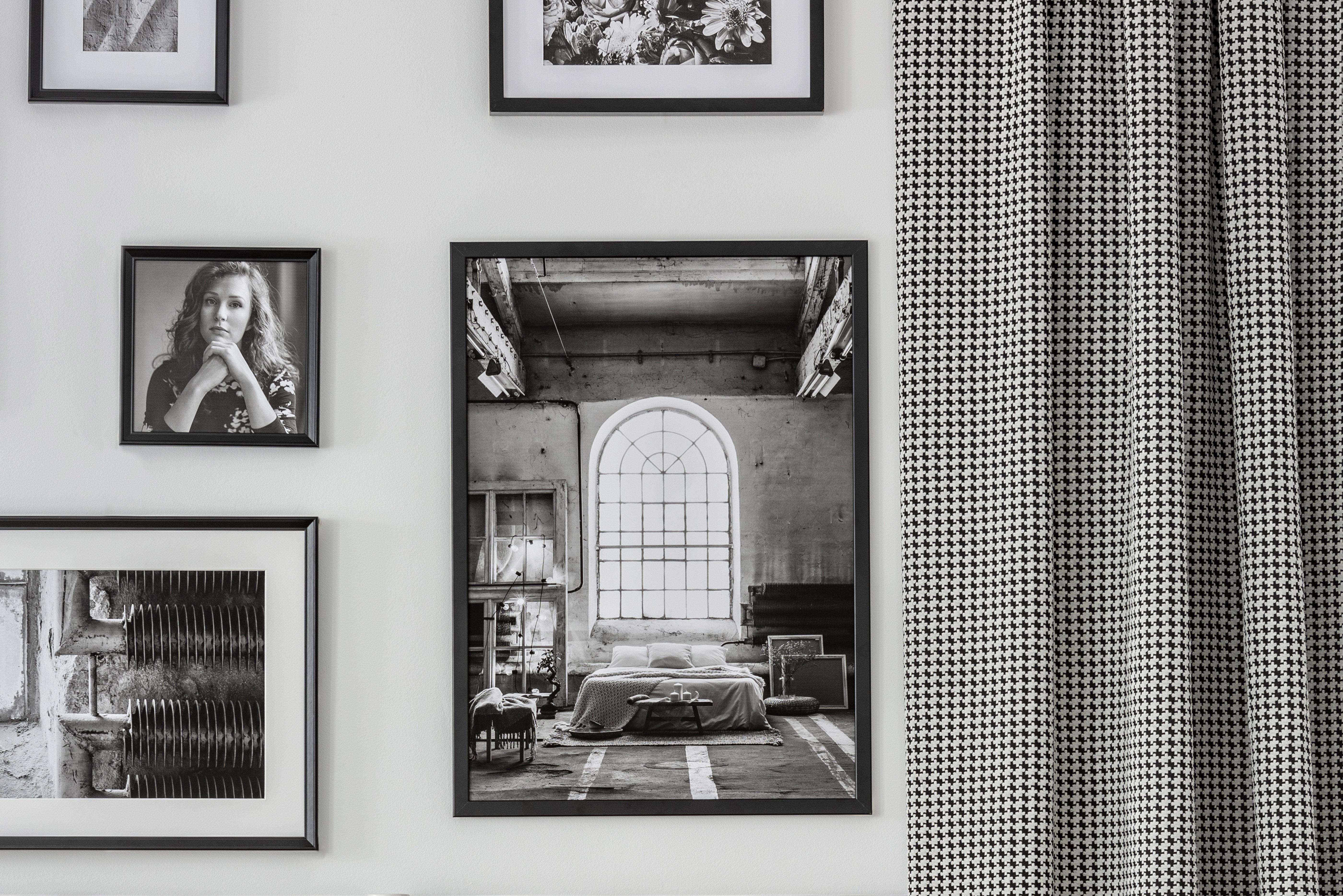 Photograph gallery wall
